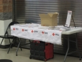Wayne County Red Cross information table