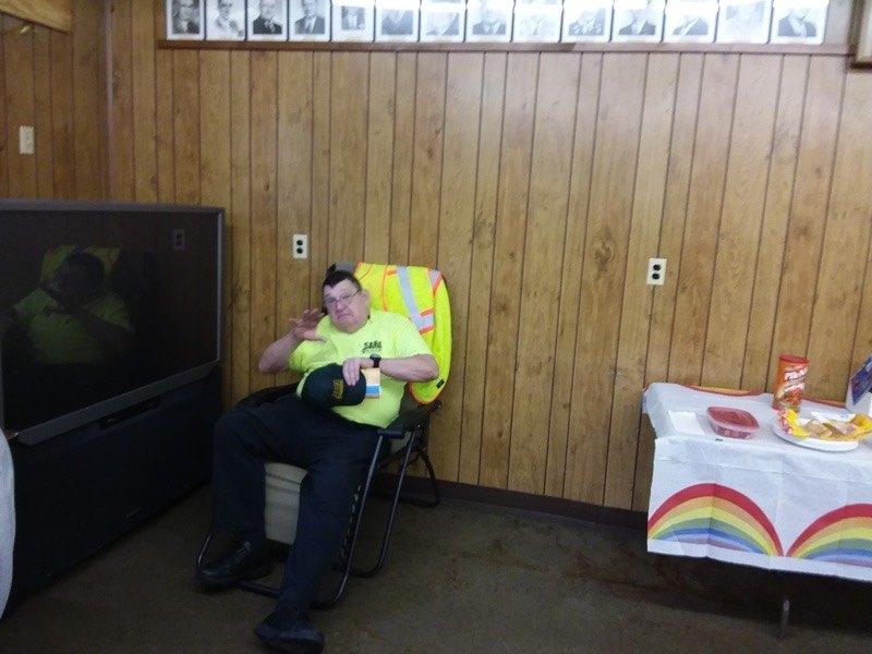 Larry taking a break