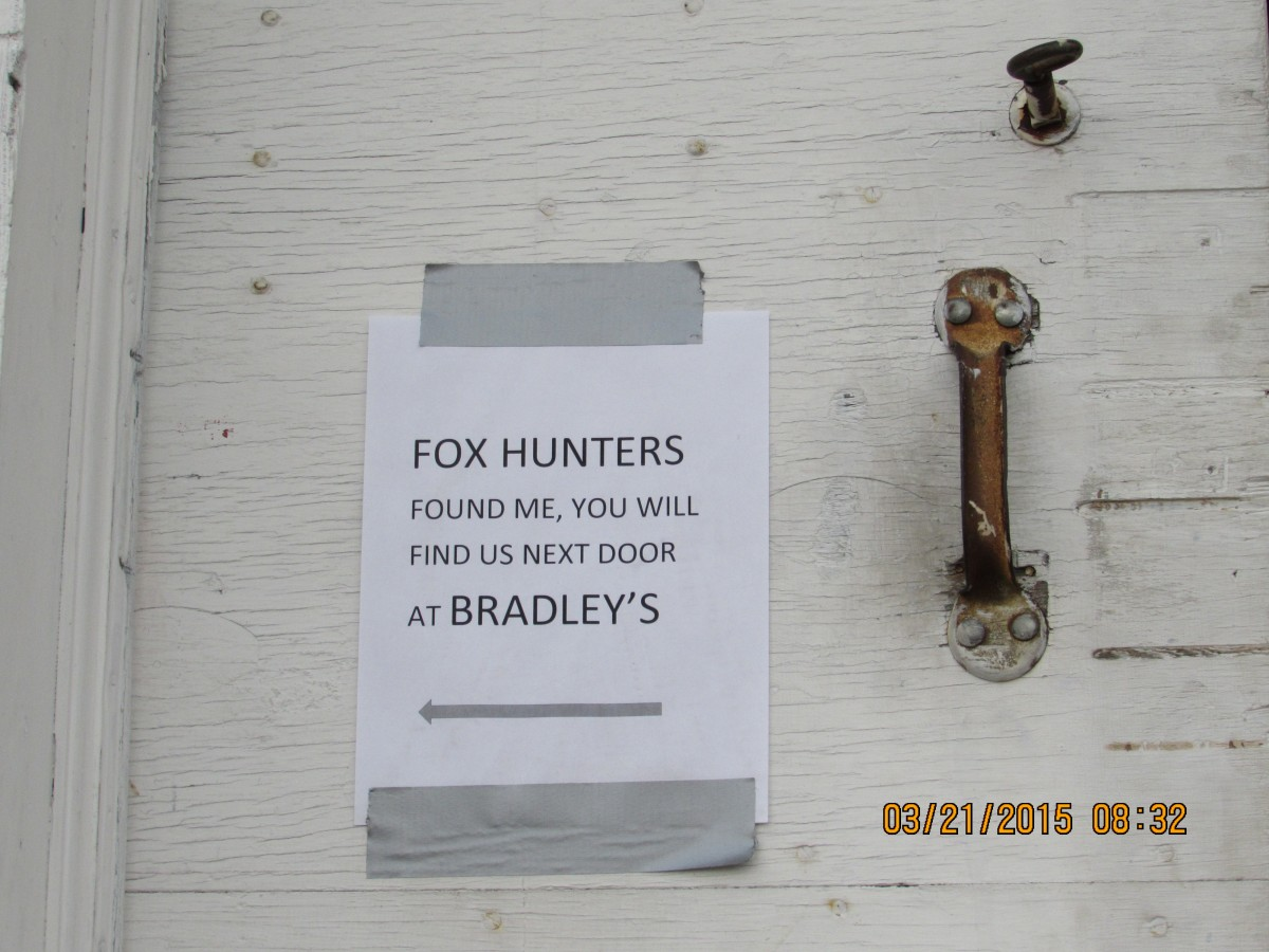 March 2015 Foxhunt sign