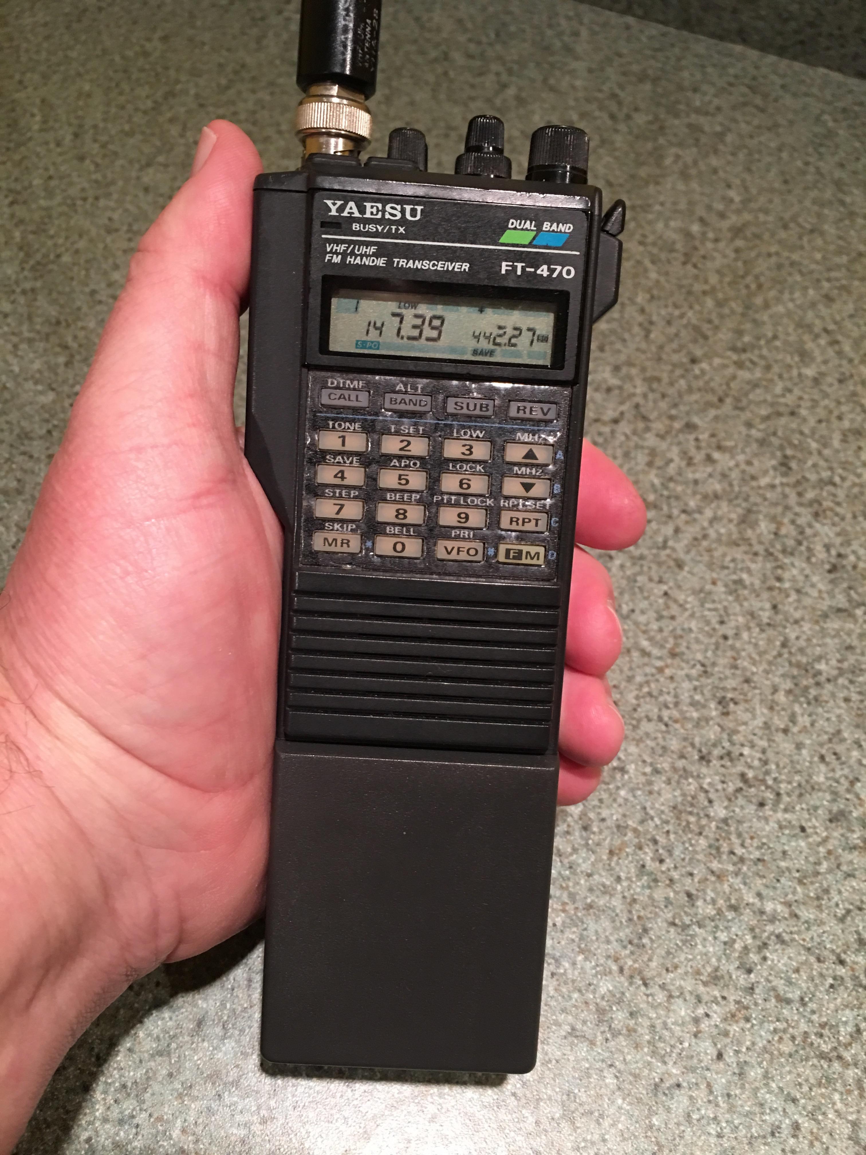 N8CD's Handheld Radio Review #3: Yaesu FT-470R dual bander