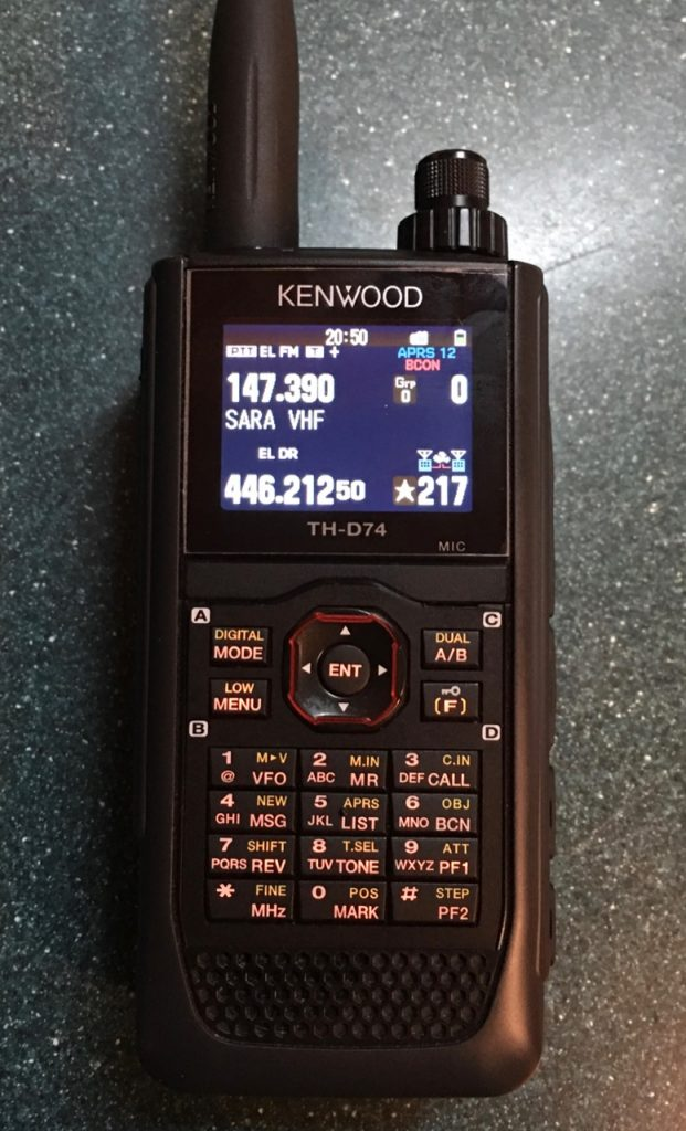 N8CD's Handheld Radio Review #9: Kenwood TH-D74A Tri-Bander + DStar